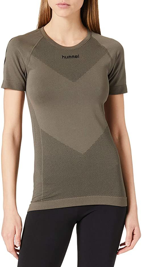 Hummel Damski T-shirt Hummel First Seamless Jersey S/S Woman TOP liść winogrona M