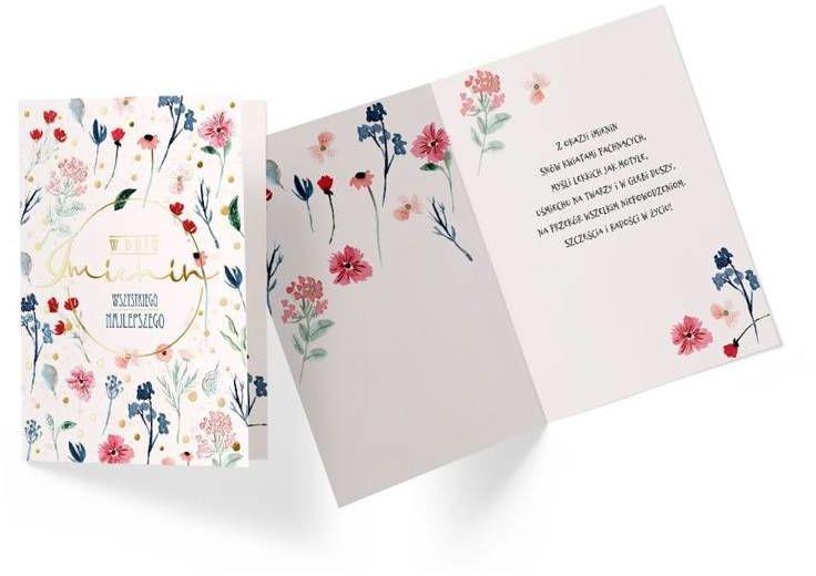 Karnet PR-242 Imieniny (kwiaty) - Kukartka