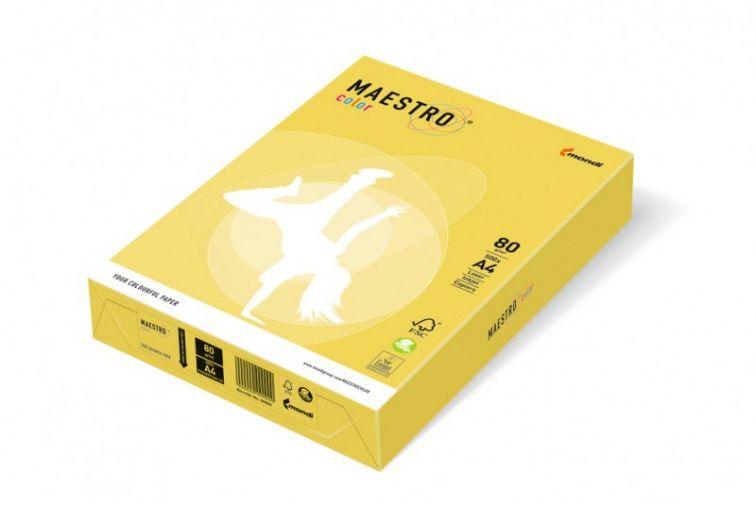 Papier Mondi MAESTRO Color Intensiv - CY39 - kanarkowy (A4/80 g/m2) - 5 ryz (CY39)