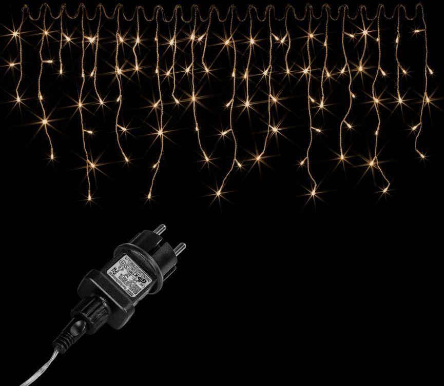 Świąteczny świetlny deszcz - 5 m, 200 LED, ciepła biel