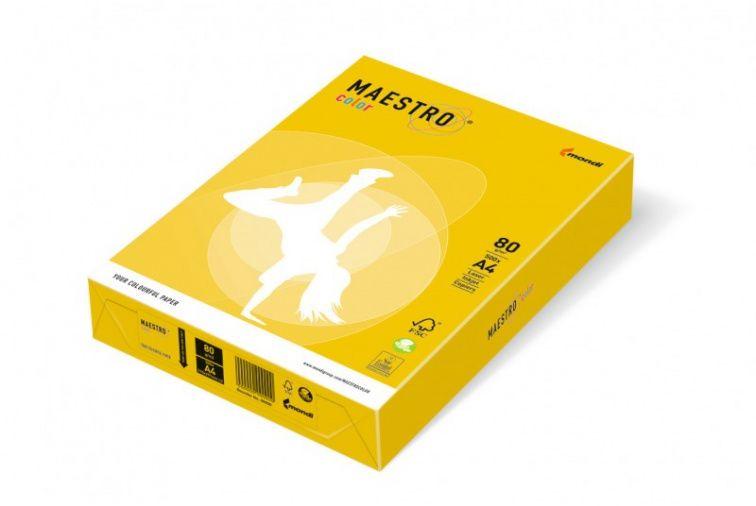 Papier Mondi MAESTRO Color Intensiv - IG50 - żółć siarkowa (A4/80 g/m2) - 5 ryz (IG50)