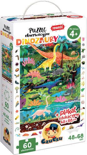 Puzzle CzuCzu obserwacyjne Dinozaury