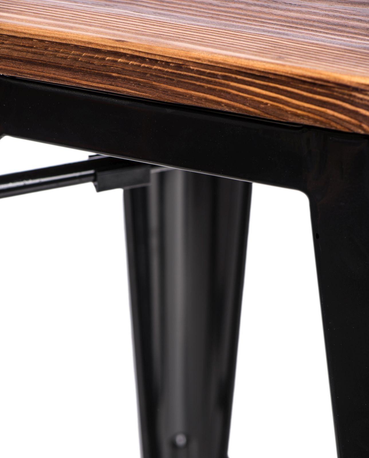 D2 Hoker Paris Wood 75cm czarny sosna