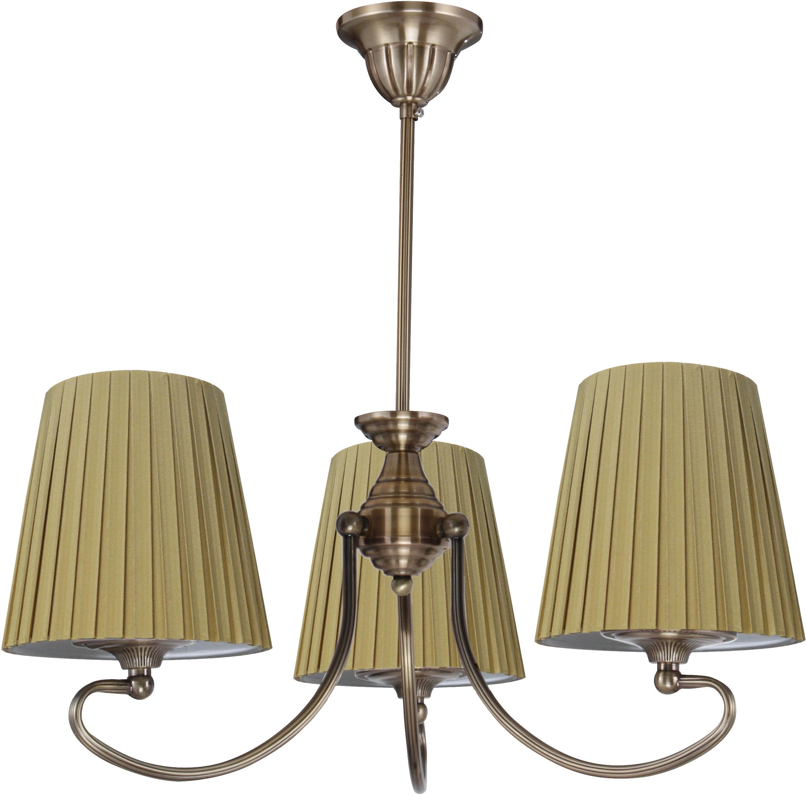 Candellux MOZART 33-33970 lampa wisząca abażur miodowy 3X60W E27 patynowa miedź 54cm