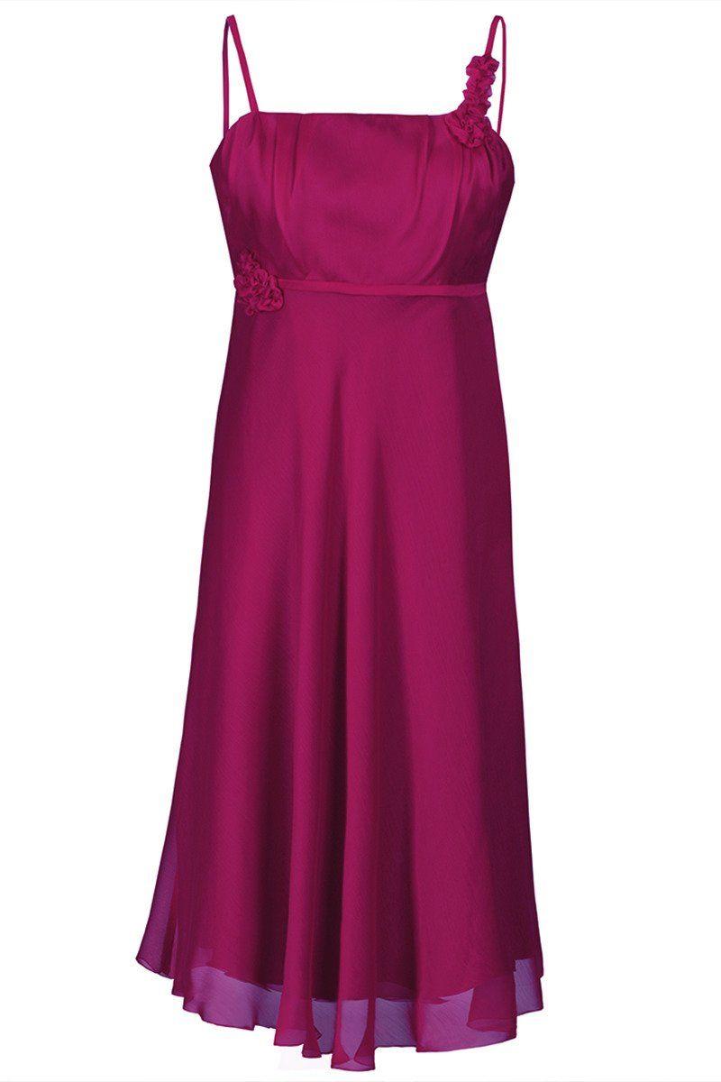 Sukienka FSU256 AMARANTOWY ŚREDNI