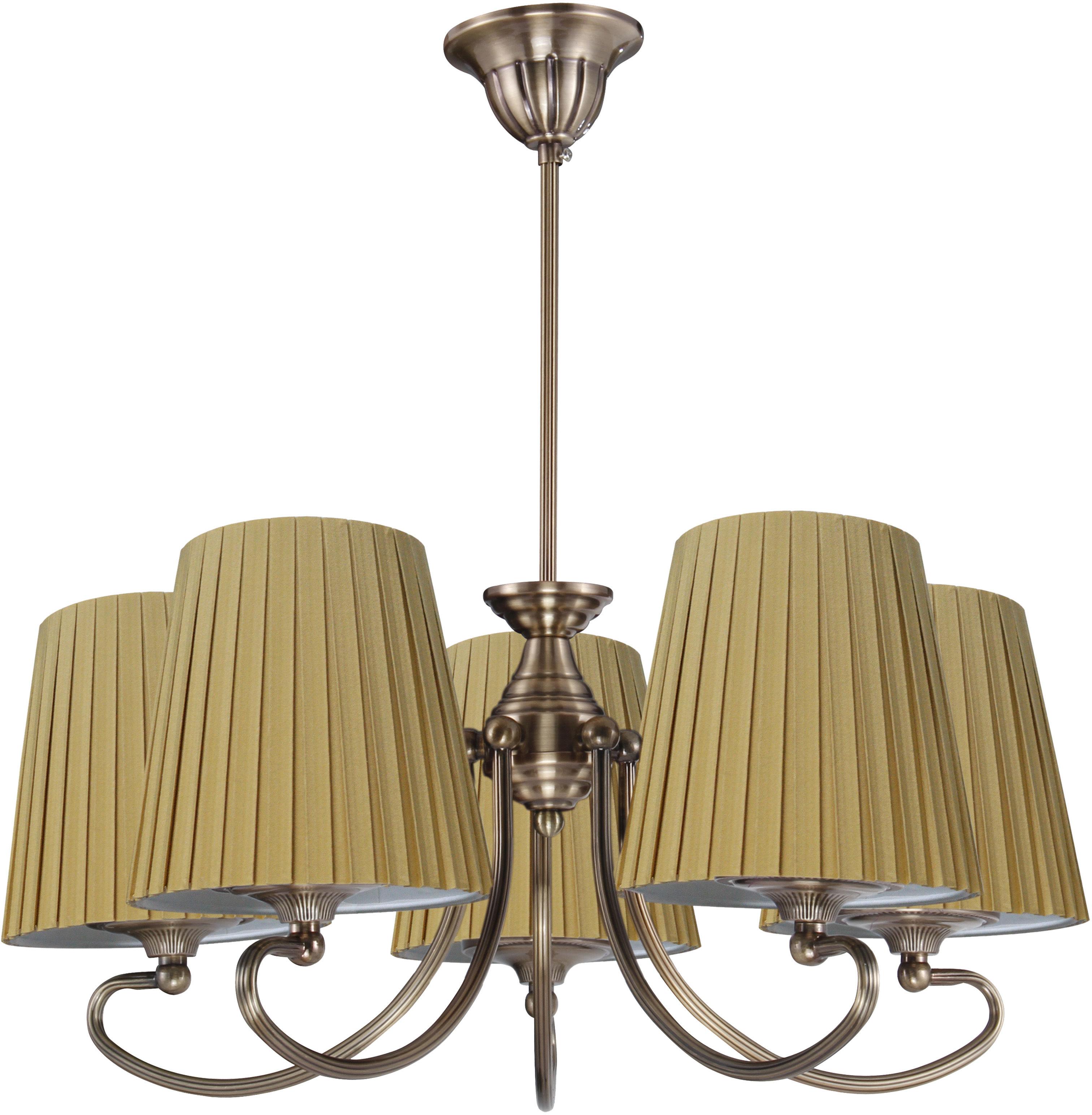 Candellux MOZART 35-34083 lampa wisząca abażur miodowy 5X60W E27 patynowa miedź 55cm
