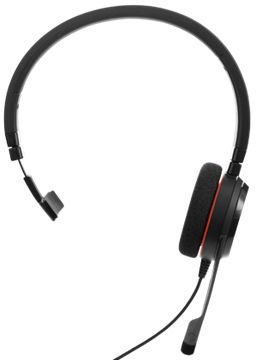 Jabra EVOLVE 20 UC Mono USB Headband, Noise cancelling, USB connector