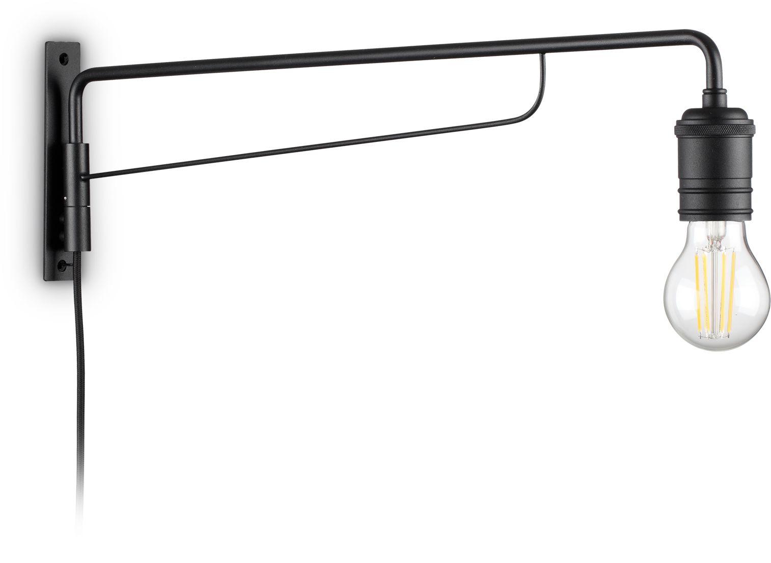 Kinkiet Triumph 242392 Ideal Lux nowoczesna lampa ścienna w kolorze czarnym