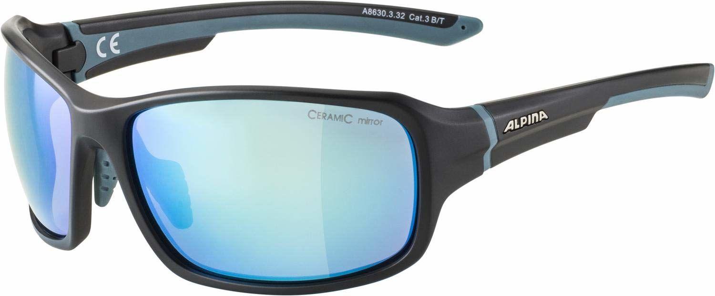 ALPINA Unisex - Dorośli, LYRON Okulary sportowe, blackt-dirtblue matt/blue, One Size