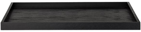 AYTM - UNITY Drewniana Taca Dekoracyjna 52x52 cm Czarna