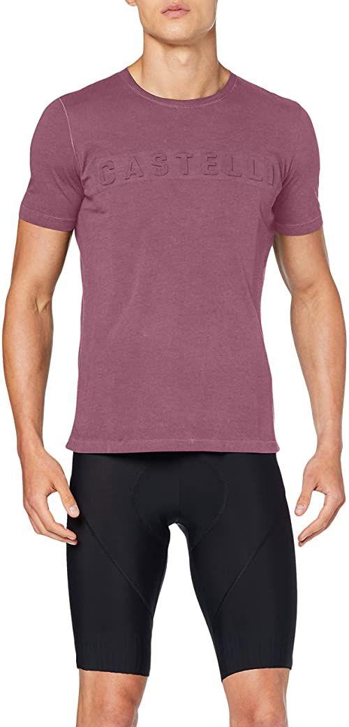 CASTELLI Męski t-shirt Bassorilievo Tee czerwony Barabaresco Red L