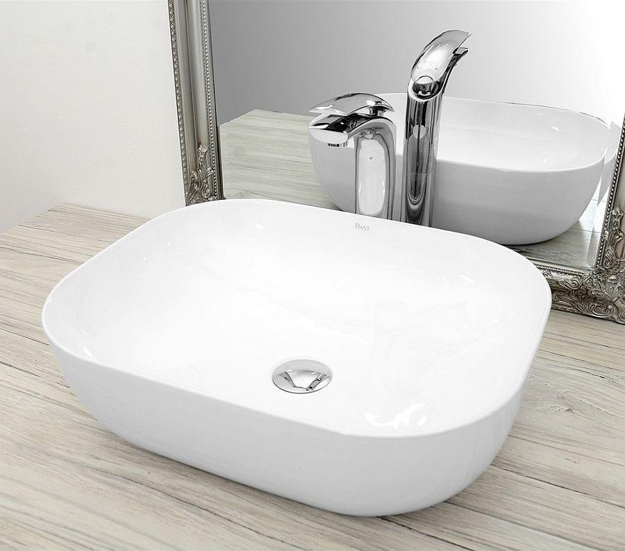 Umywalka ceramiczna 50 Mona Slim Rea (REA-U6300)