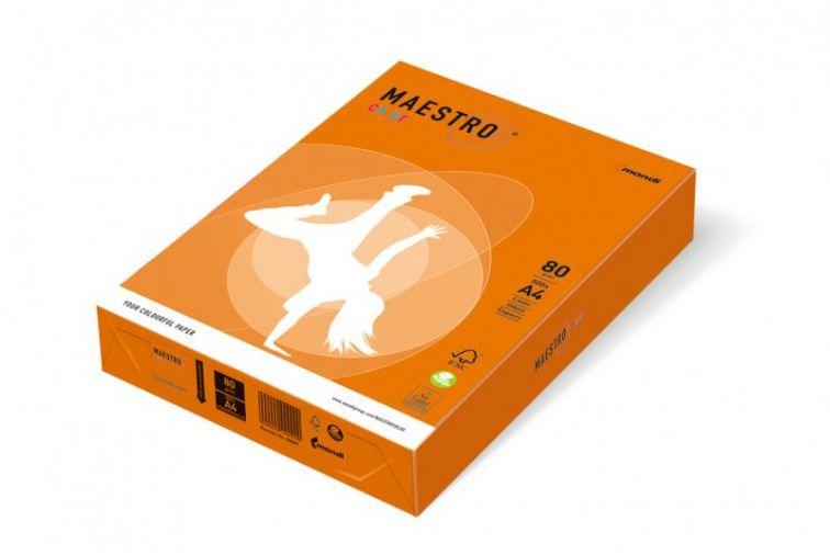 Papier Mondi MAESTRO Color Intensiv - OR43 - pomarańczowy (A4/80 g/m2) - 5 ryz (OR43)