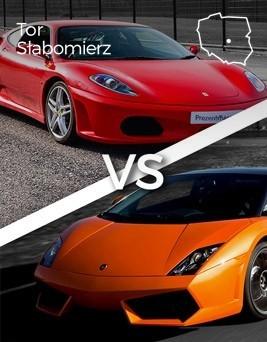 Jazda Lamborghini Gallardo vs Ferrari F430  Tor Słabomierz