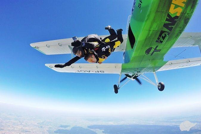 Skok spadochronowy w Małopolsce