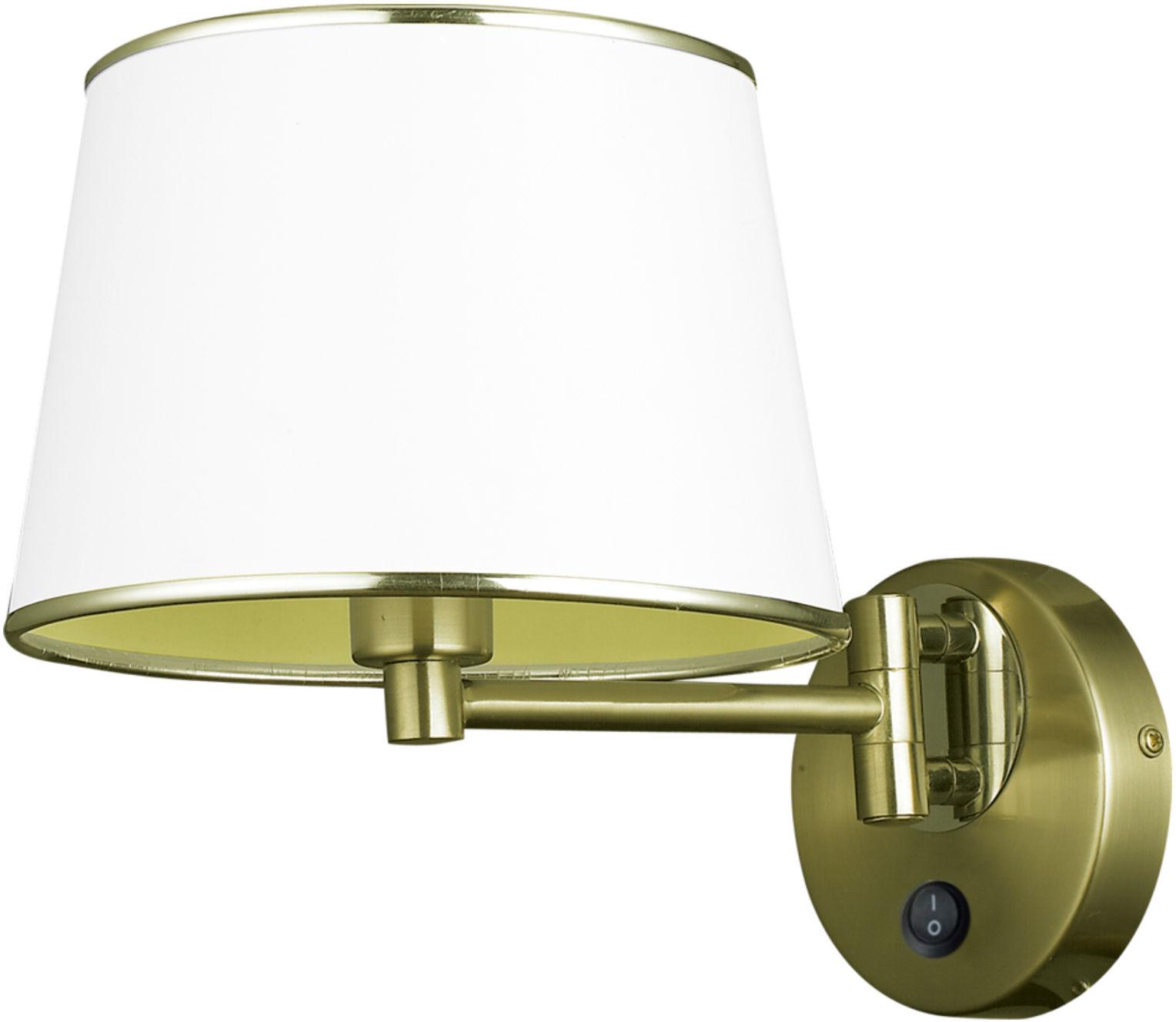 Candellux IBIS 21-01279 kinkiet lampa ścienna abażur 1X40W E14 patyna 20cm