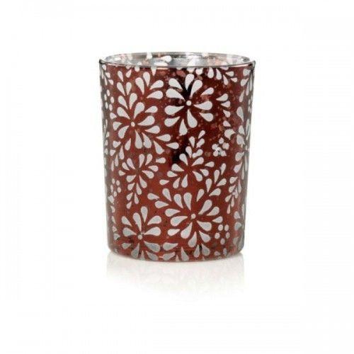 Yankee Candle Świecznik na świecę typu votive Flower Bronze Punched Metal