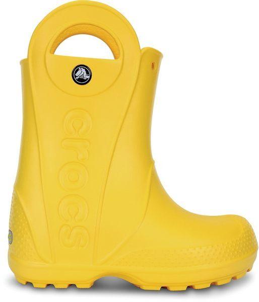 Kalosze dziecięce CROCS Handle Rain Boot Kids żółte12803730