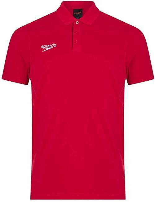 Speedo koszulka polo, męska XL czerwona (flaga czerwona)