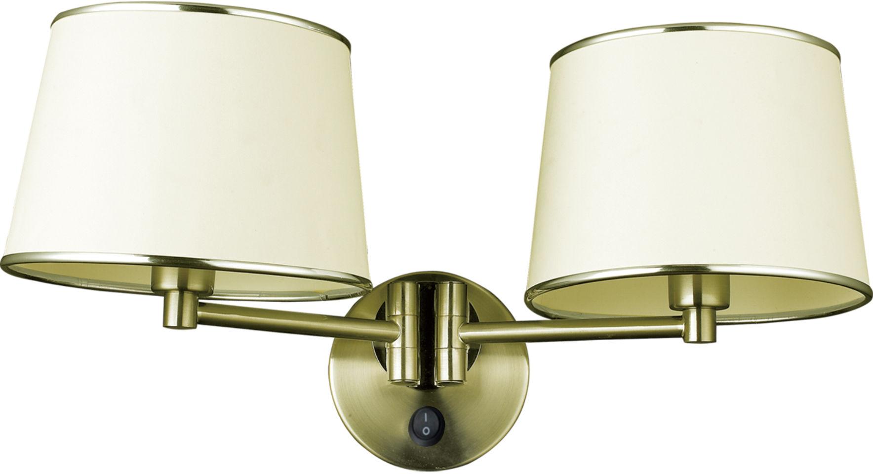 Candellux IBIS 22-01309 kinkiet lampa ścienna abażur 2X40W E14 patyna 48cm