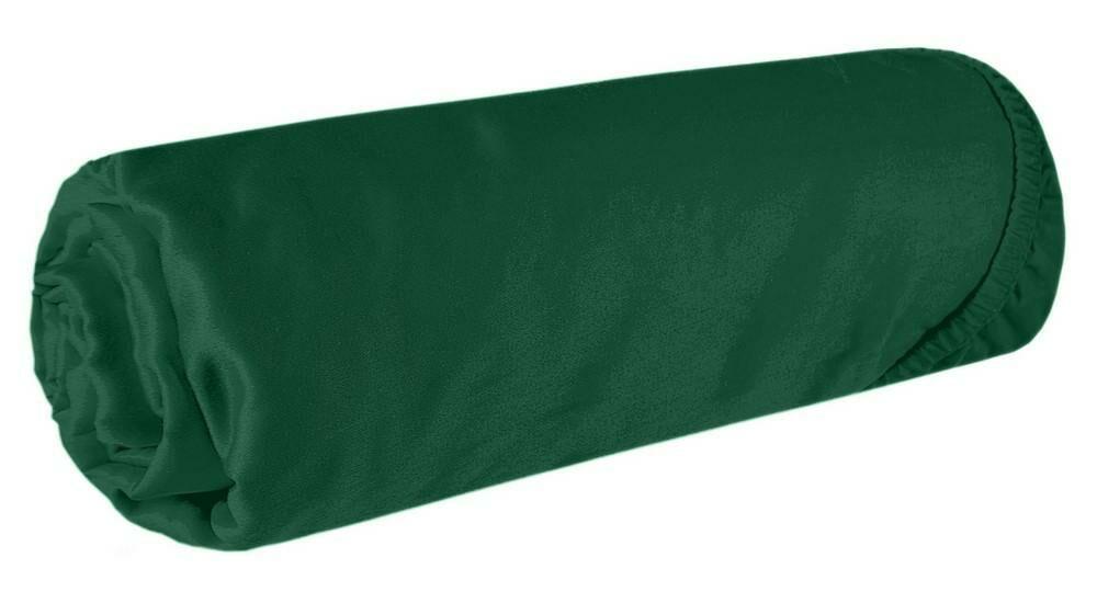 Prześcieradło satynowe z gumką 100x200 Nova zielone ciemne Eurofirany