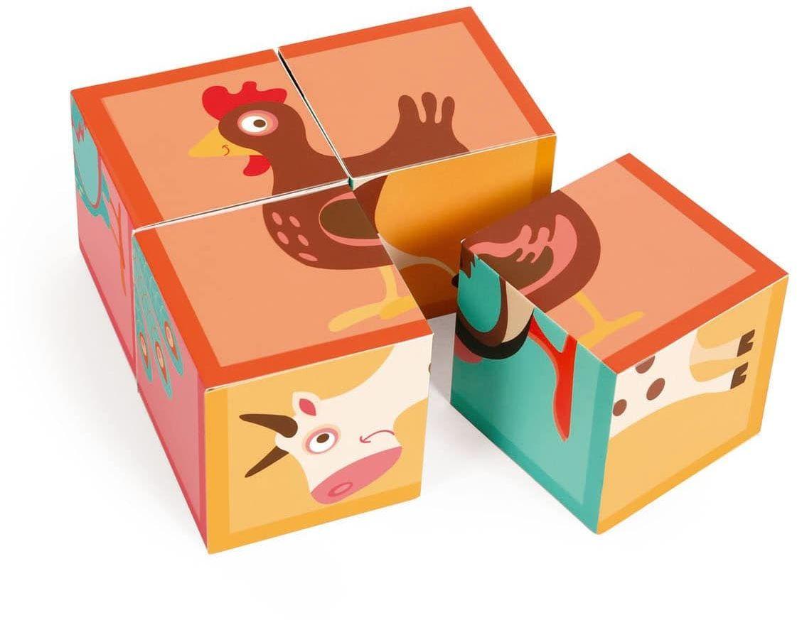 Puzzle 4 Klocki Farma
