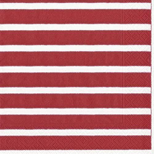 Caspari Bretagne papierowe serwetki obiadowe, 20 sztuk, czerwone