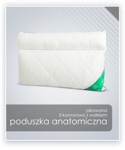 AMZ ANATOMICZNA (ortopedyczna) PODUSZKA mikrofibra z wałkiem 50x60