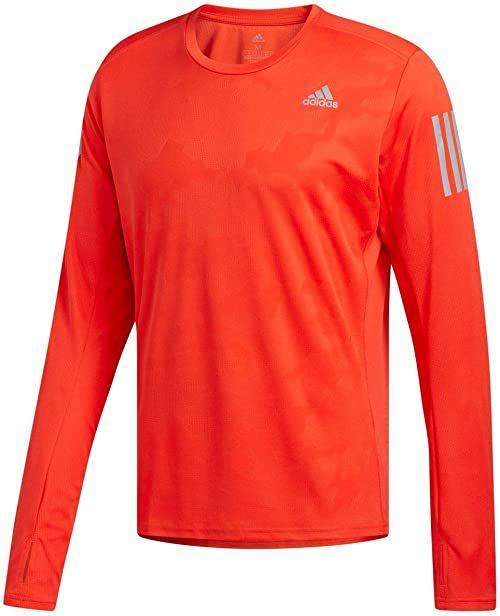 adidas Męska koszulka z długim rękawem, wielokolorowa (różowa), XS
