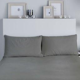 Fusion Szczotkowana pościel  para poszewek na poduszki, 100% bawełna, węgiel drzewny, 50 x 75 cm gospodyni domowa