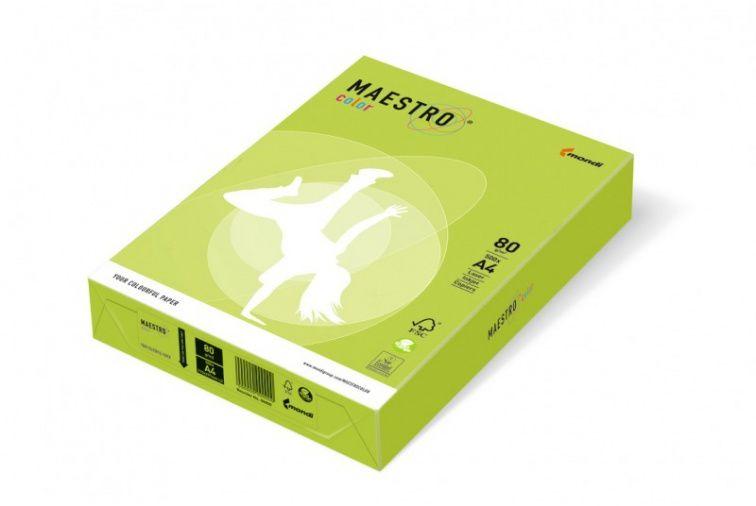 Papier Mondi MAESTRO Color Intensiv - LG46 - zieleń limonki (A4/80 g/m2) - 5 ryz (LG46)