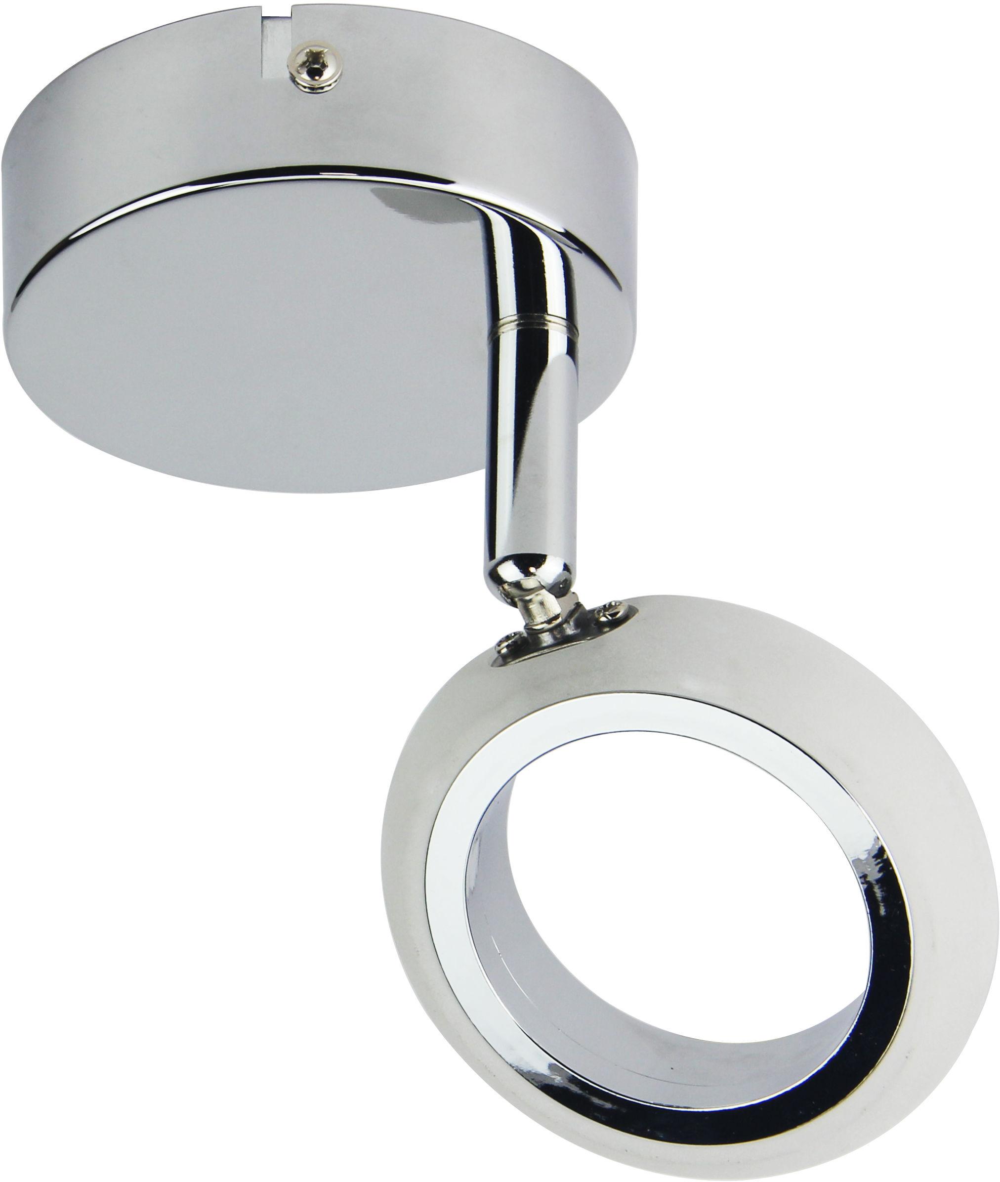 Candellux AURELION 91-65247 kinkiet lampa ścienna 1X4W LED CHROM 3000K 9cm