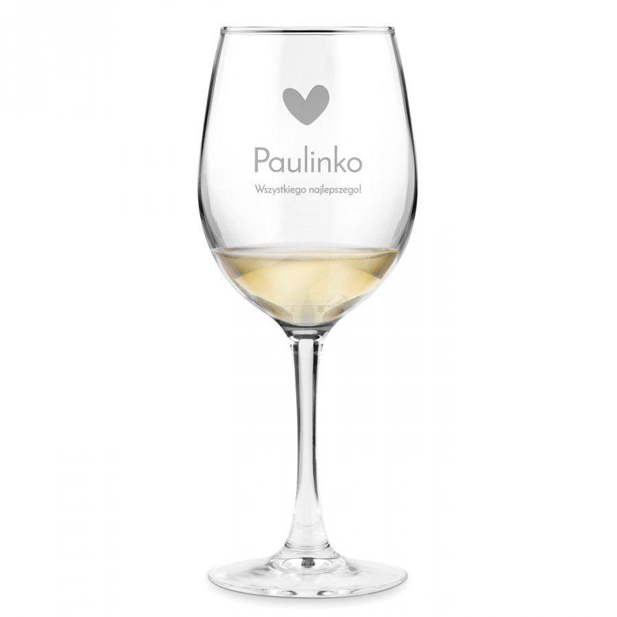 Kieliszek szklany do wina grawer życzenia dla niej na urodziny