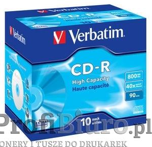 Płyty Verbatim CD-R 800MB 40x - Jewel Case-10szt. - DataLife