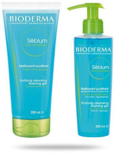 Bioderma Sebium Gel Moussant antybakteryjny żel do mycia twarzy 200 ml