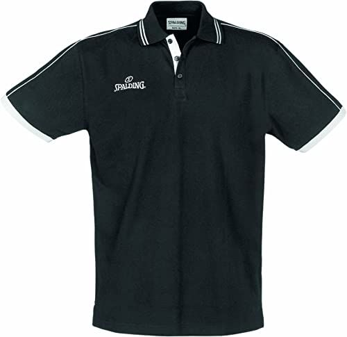 Spalding męska koszulka polo, czarna, rozmiar S
