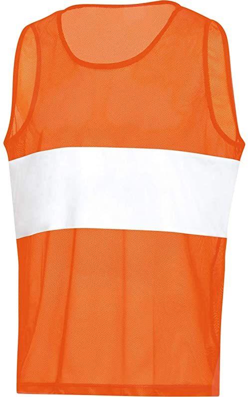 Jako Stripe koszulka oznaczeniowa, neonowy pomarańczowy, (01) JOne sizeor