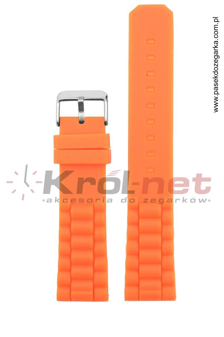 Pasek 252/12/20 - pomarańczony, silikonowy