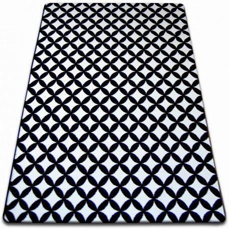 Dywan SKETCH - F757 biało/czarny - Karo 80x150 cm