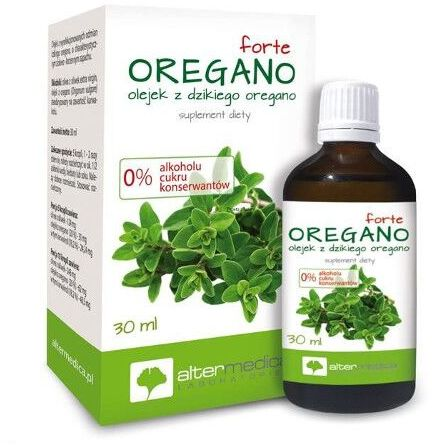 Oregano forte, olejek z dzikiego oregano suplement diety Alter Medica 30 ml