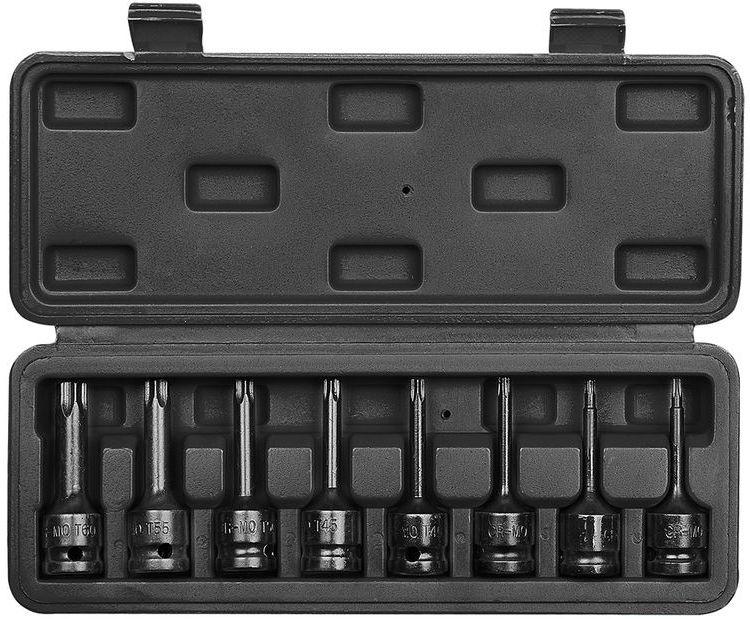 Klucze udarowe Torx 1/2cala zestaw 9 elementów 08-712