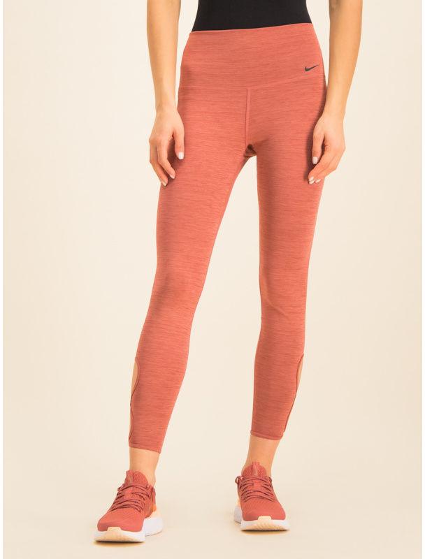 Nike Legginsy Yoga 7/8 Tights BV5715 Różowy Slim Fit