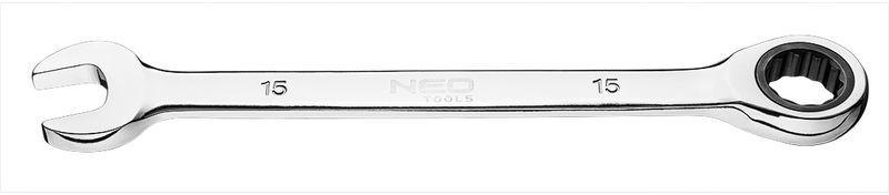 Klucz płasko-oczkowy z grzechotką 15 mm 09-066