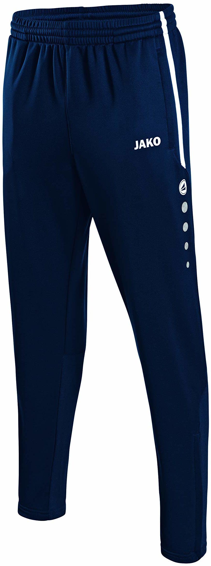 JAKO Męskie spodnie treningowe Active, granatowe/neonowy żółty, XXL, 8495