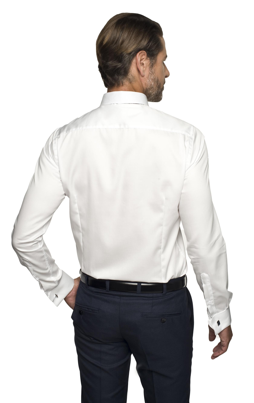 koszula versone 2622 na spinki slim fit ecru