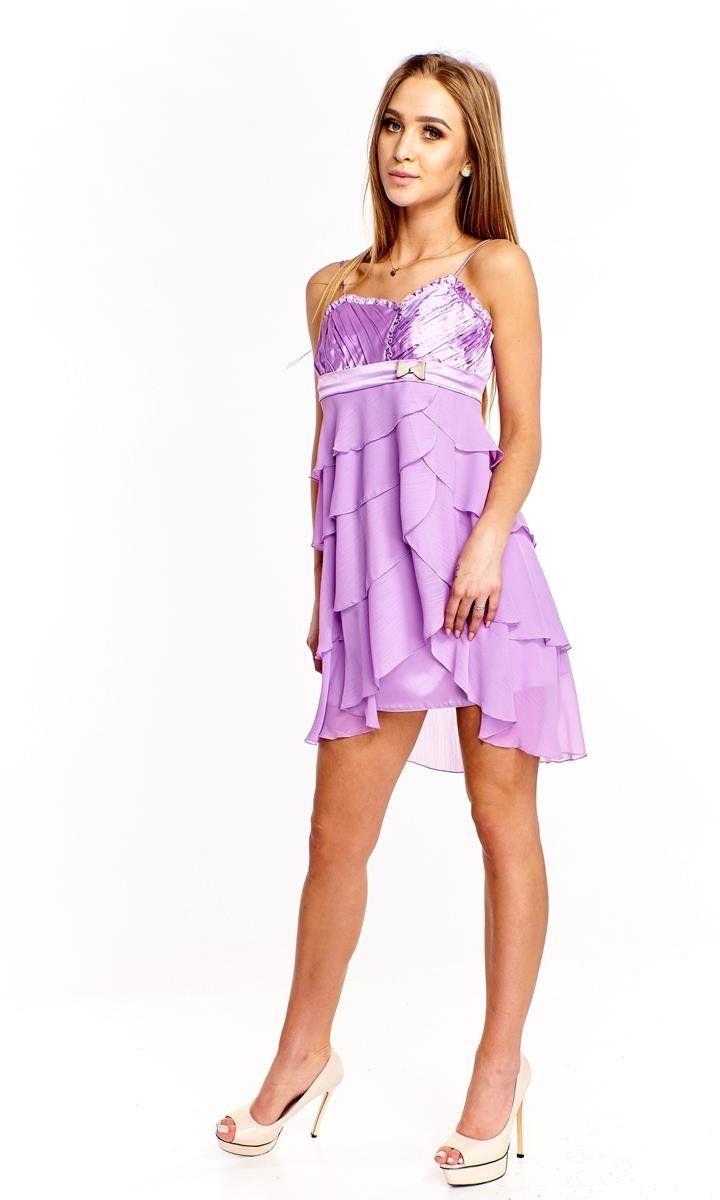 Sukienka FSU183 FIOLETOWY