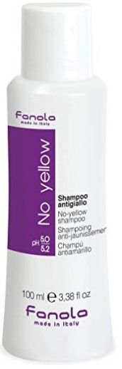 Fanola No Yellow szampon blond włosy siwe 100ml