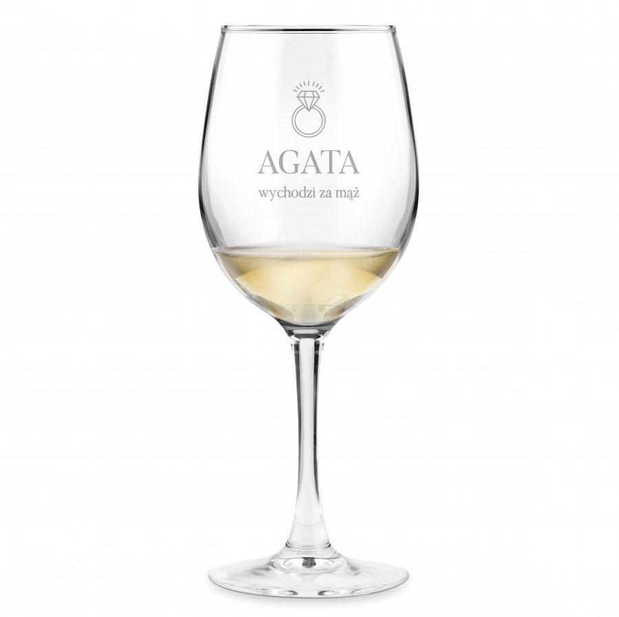 Kieliszek szklany do wina grawer z dedykacją dla niej na wieczór p