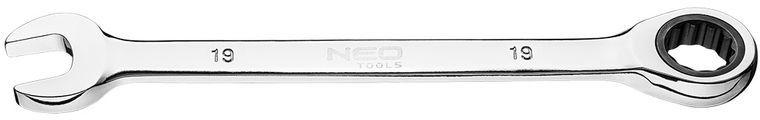 Klucz płasko-oczkowy z grzechotką 19 mm 09-068