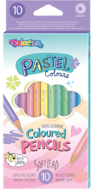 Colorino - Kredki drewniane Pastel 10 kolorów 80813